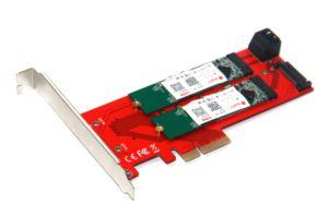 Image 3 - 3 interfejsy M.2 dla NVMe SSD dla NGFF na PCIE X16 Adapter M klucz 2x B kluczowa karta rozszerzająca karta rozszerzeń obsługa PCI Express 3.0 4X