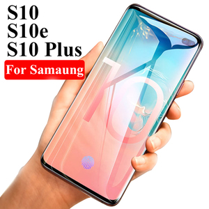 3D Curved Tempered Glass For Samsung Galaxy S10 Plus e Case Cover Protective Glas On The For Galaxy S9 S8 Plus S 10 9 8 Note 9 8(China)