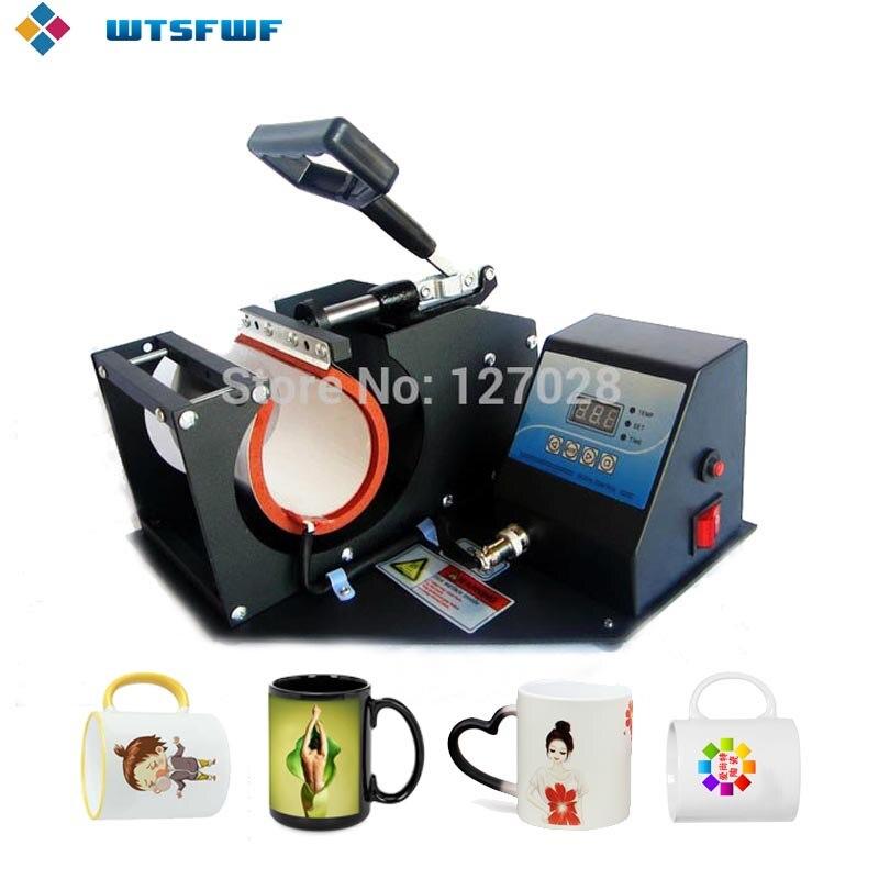 Livraison gratuite Wtsfwf Portable tasse presse à chaud imprimante Machine 2D Sublimation tasse transfert Machine tasse presse Machine