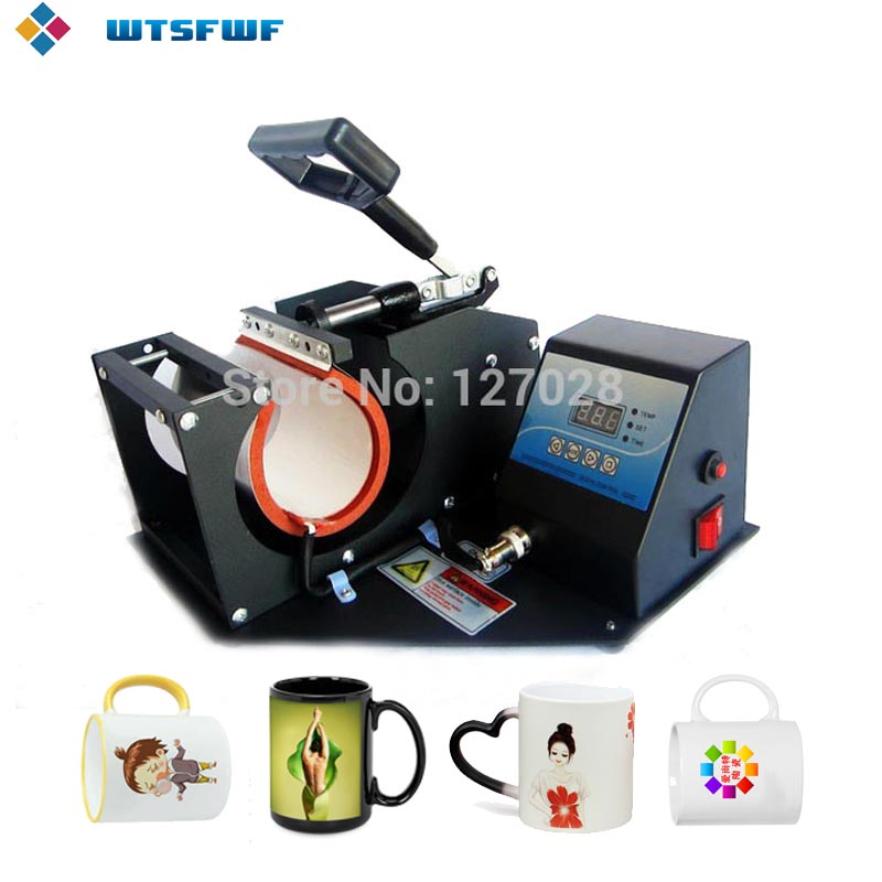 Wtsfwf Portable Digital Mug Heat Press Printer Machine 2D Pemindahan Sublimation Mug Printer Machine