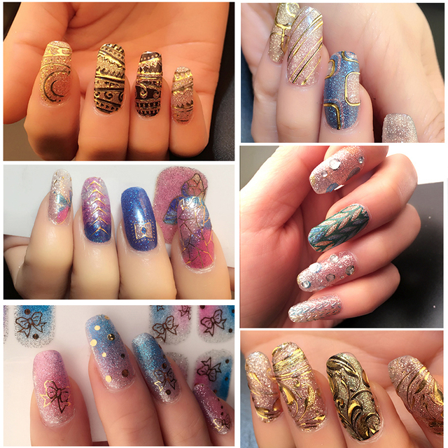 3D 18 Styles Nail Stickers