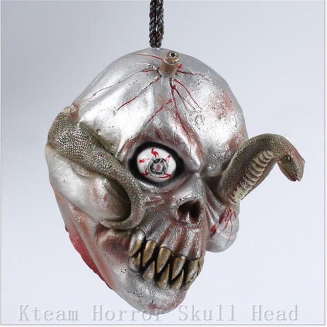 Top Grade Latex Human Skull Decor Prop Skeleton Head Halloween