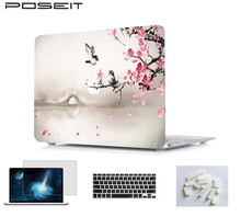 Print Laptop Hard Case Cover For 2018 NEW Macbook Pro Retina 12 13 15 For Macbook Air 13 A1932 Touch Bar 13 15 A1989/A1990/A1707 for new macbook air pro retina 11 12 13 15 for macbook pro 13 15 air 13 2019 a1932 a1708 a1989 floral feather print laptop case