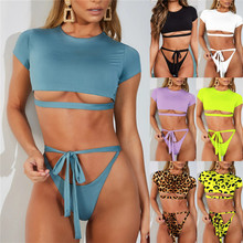 Bandage crystal bikini Swimsuit Monokini Swimwear Women Green Bikinis Brazilian Rhinestone Beachwear PushUp Bikini 2019 Biquini
