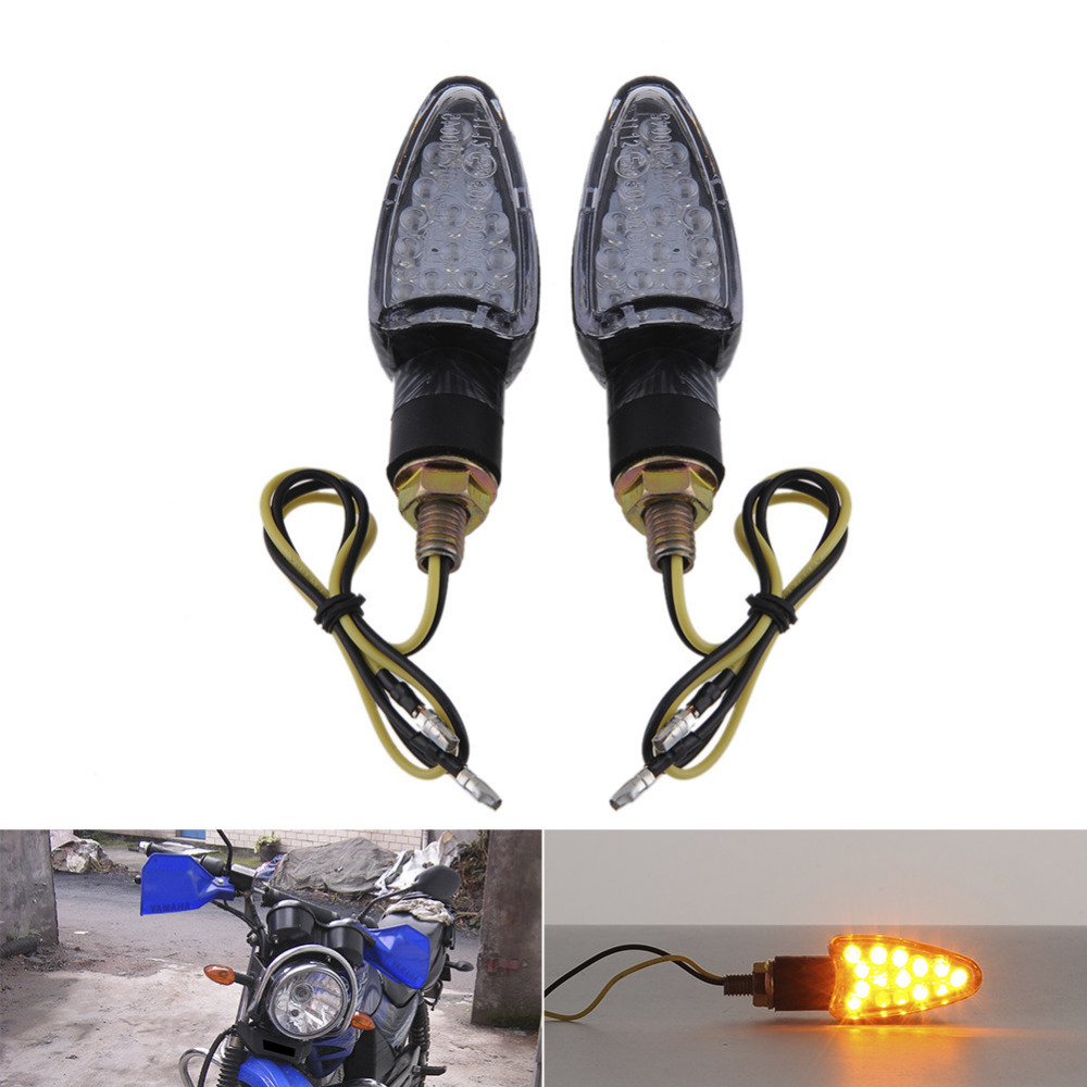 2pcs 12V 2 Wire ATVMotorcycle Blinker Flashers Motor Car Scooter 14 ...