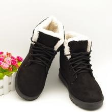 ผู้หญิงฤดูหนาวบู๊ทส์Lace Upข้อเท้าบู๊ทส์สำหรับผู้หญิง2016มาใหม่แพลตฟอร์มกันน้ำรองเท้าหิมะผู้หญิงที่อบอุ่นหรูหราฤดูหนาวรองเท้า