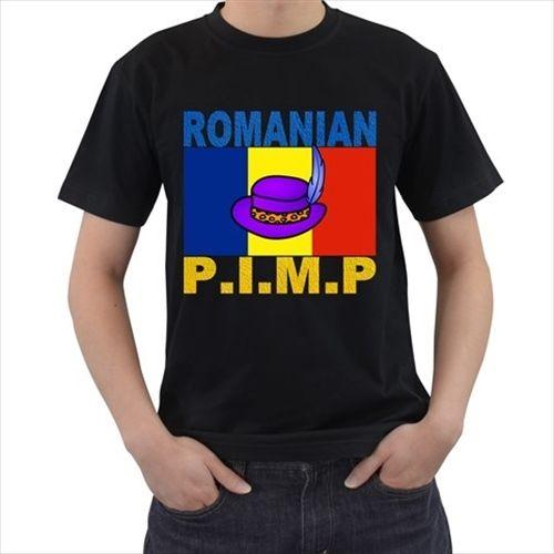 ROMANIAN P.I.M.P Romania Funny Flag Pimp Hat prank Hilarious T-SHIRT T21 Streetwear Funny Print Clothing Hip-Tope Mans T-Shirt