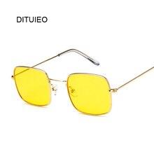 4ce491dd6229d Óculos De Sol Das Mulheres do vintage Quadrado Pequeno Vermelho Amarelo  Limpar Lens Óculos de Sol óculos de Sol Senhora Retro Oc..