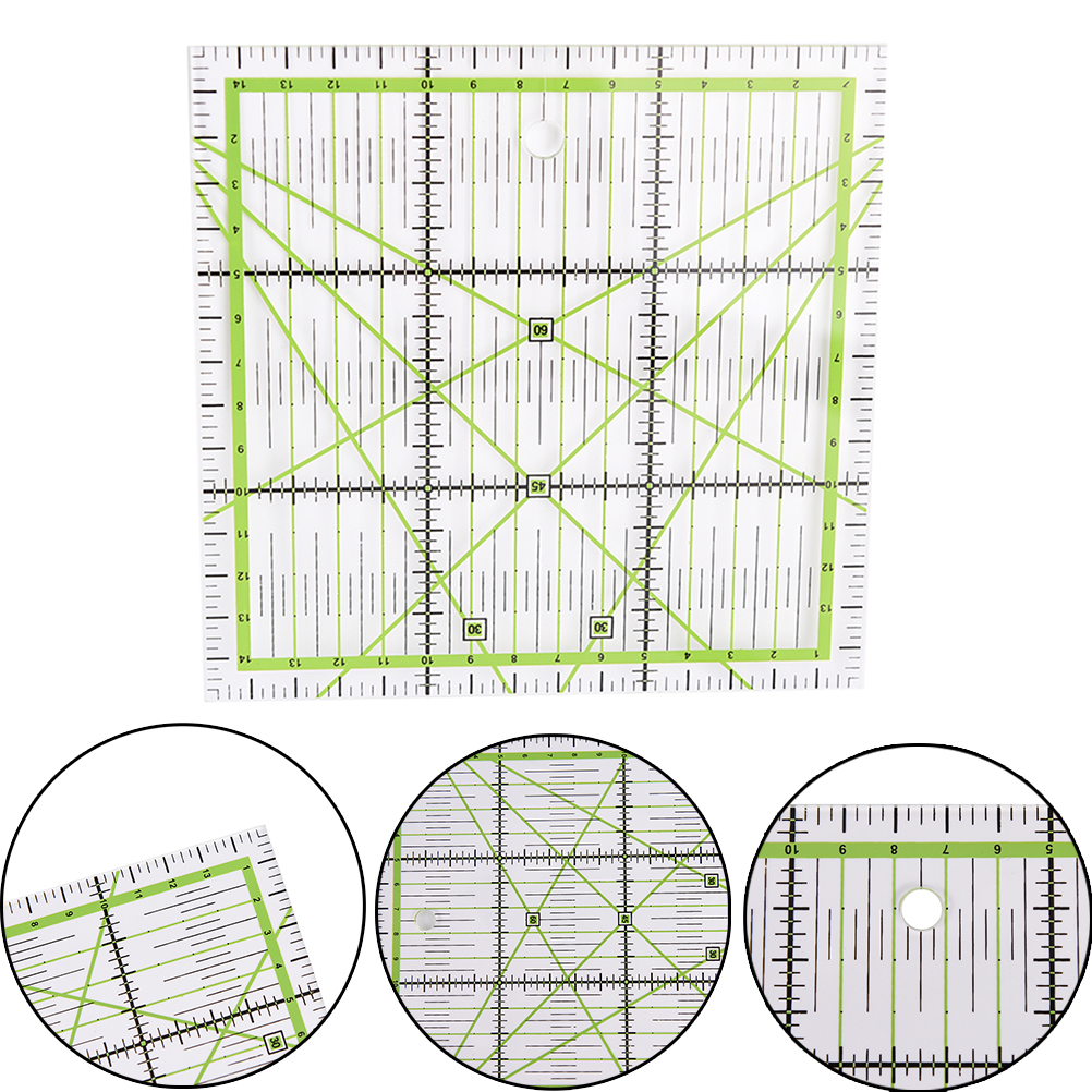 Transparent Quilting Sewing Patchwork Ruler Cutting Tool Tailor Craft G03 Drop Ship Size: 15x15cm