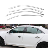 4Pcs Set Stainless Steel Car Styling Full Window Trim Decoration Strips Accessories For Chevrolet Malibu 2013