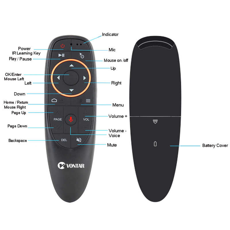 G10 2,4 ГГц Fly Air mouse 6-осевая гироскоп воздушная мышь с Google Voice для XIaoMi H tv 6 box H96 max X96mini MAG 254 256 tv Box