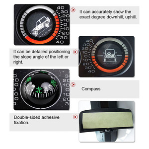 Image 4 - תכליתי רכב מצפן מדרון למדוד רכב אביזרי כלי מדריך כדור רמת גל נטייה מכשיר רכב Inclinometer