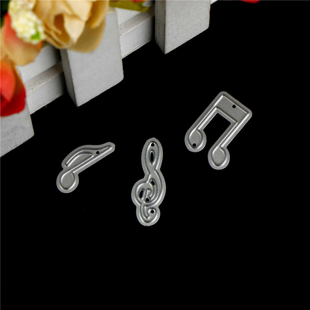3Pcs Lovely Music Note Design Metal Cutting Dies Stencils For DIY Scrapbooking Photo Album Decorative Embossing DIY Paper Cards