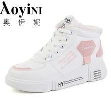 fb61b5e27663db Gorąca sprzedaż Rihanna pnącza zimowe biały wiązane płaskie buty buty w  stylu casual buty na koturnie