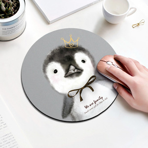 Image 5 - Beautiful Computer Mouse Padding Rubber thickening Cartoon round animal Penguin mouse pad 20CM for MacBook xiaomi Lenovo
