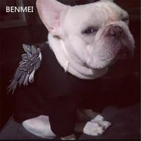 BENMEI 2017 Blanco Moda Para Mascotas Ropa Para Perros Cachorro Escudo Sudadera Con Capucha Para El Otoño Invierno Caliente Lindo Impresión de la Letra Con Capucha