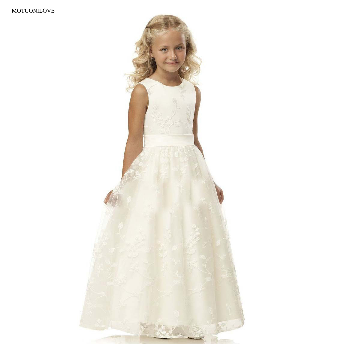Vintage   Flower     Girl     Dresses   Princess Baby Evening Wedding Birthday Party Kids Children   Dresses   First Communion   Dresses   For   Girls