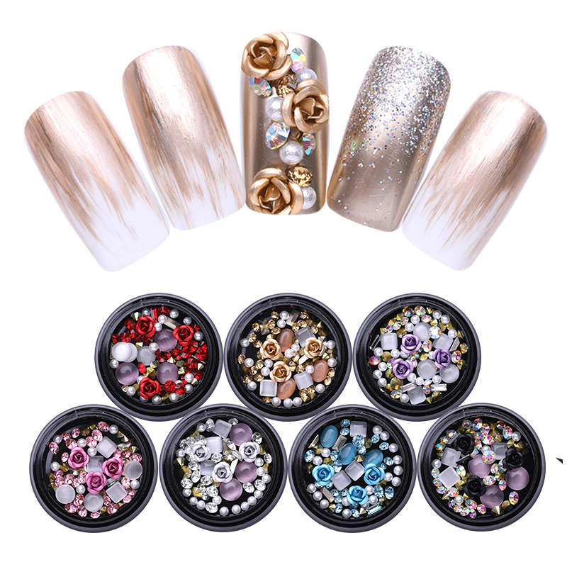 Sunny 12g 1 Pack Mixed 3d Mix Size Ss4 Ss6 Ss8 Diy Hollow Metal Frame Crystal Jewelry Charm Gems Nail Arts Pillette Nail Accessories Beauty & Health