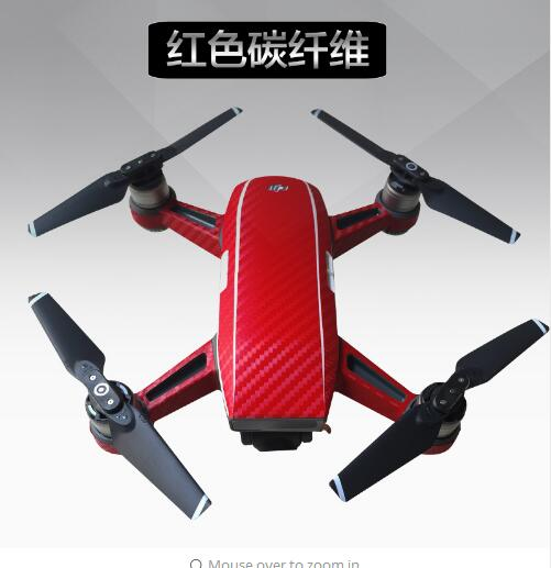 Newest FPV Drone Protective DJI Spark Luxury Carbon Fiber Sticker Skin Cover Waterproof Sticker Spare Parts For DJI Spark