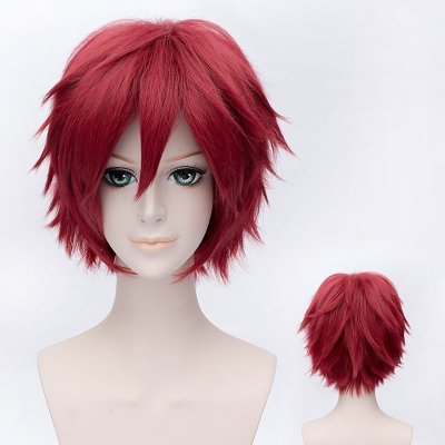 Naruto Akactuki Cosplay Wigs Halloween Gaara Short Red Cosplay Wig