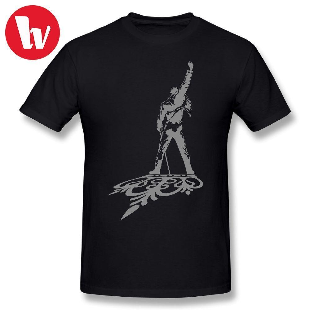 Freddie Mercury   T  -  Shirt   QUEEN Men Print Music Tee   Shirt   Casual Short Sleeve   T     Shirt   Cute Graphic   T     Shirts   Male Basic   T  -  Shirts