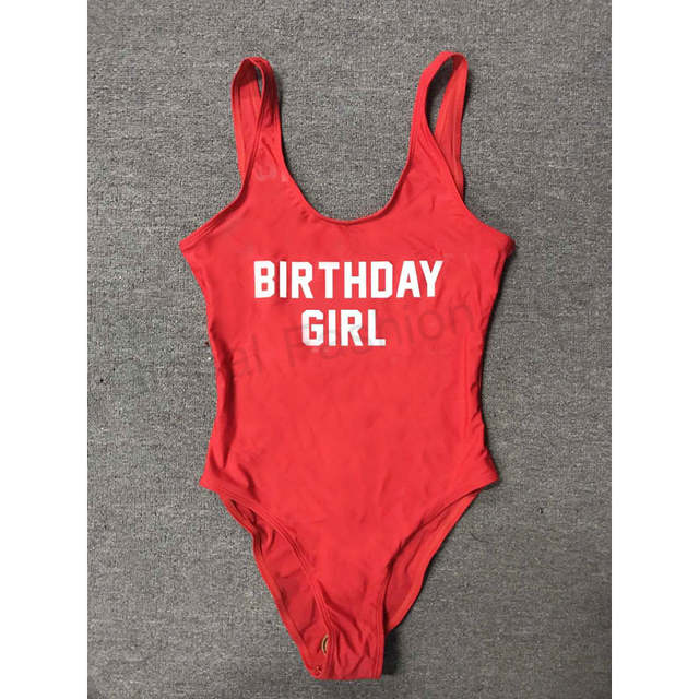 67e3f1b66f79a placeholder BIRTHDAY GIRL Letter Print Party Swimwear Women One Piece  Swimsuit Sexy Bodysuit 2018 Beachwear badpak Swim