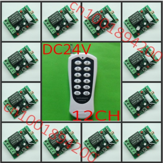 Dc24v 12ch Remote Control Switch Led Wireless Remote Control Switch