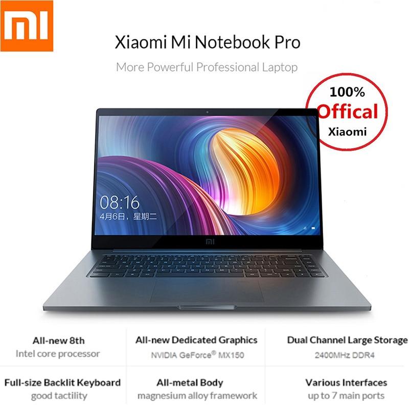 Xiao mi mi notebook pro 15.6 Pollice 16:9 1920*1080 ips 256 GB ssd Finestre 10 intel core I5 /i7 Quad Core Del Computer Portatile di Impronte Digitali Dual WiFi