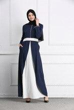 2018 Adult Casual diamond Robe Musulmane Turkish Dubai Fashion Abaya Muslim Dress split bottom Robes Arab Worship Service Wj1883