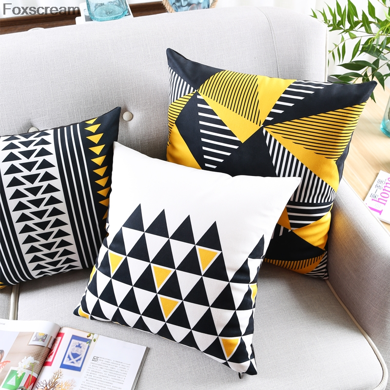 Nordic Yellow almofadas decorativas Decorative Throw