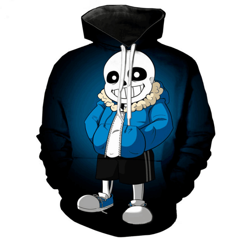 Game Undertale Sans Frisk Chara Spring and Autumn 3D Printing Hoodies Cosplay Costume Casual Wear