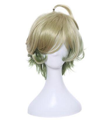 green anime cosplay hair shaped anime hair halloween cosplay masquerade party supplies fashion pretty hair for men