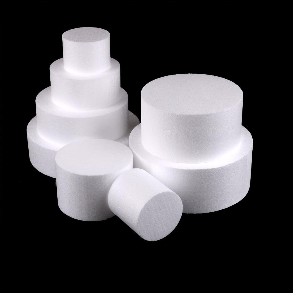 1PCS New White 4/6/8/10 Inch Round Styrofoam Foam Cake Dummy Sugarcraft Flower Decor Patrice Model