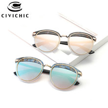 CIVICHIC Brand New Fashion Eyewear Retro Cat Eye Sunglasses Personalized Eyebrow Stitched Oculos De Sol Hipster UV400 Gafas E348