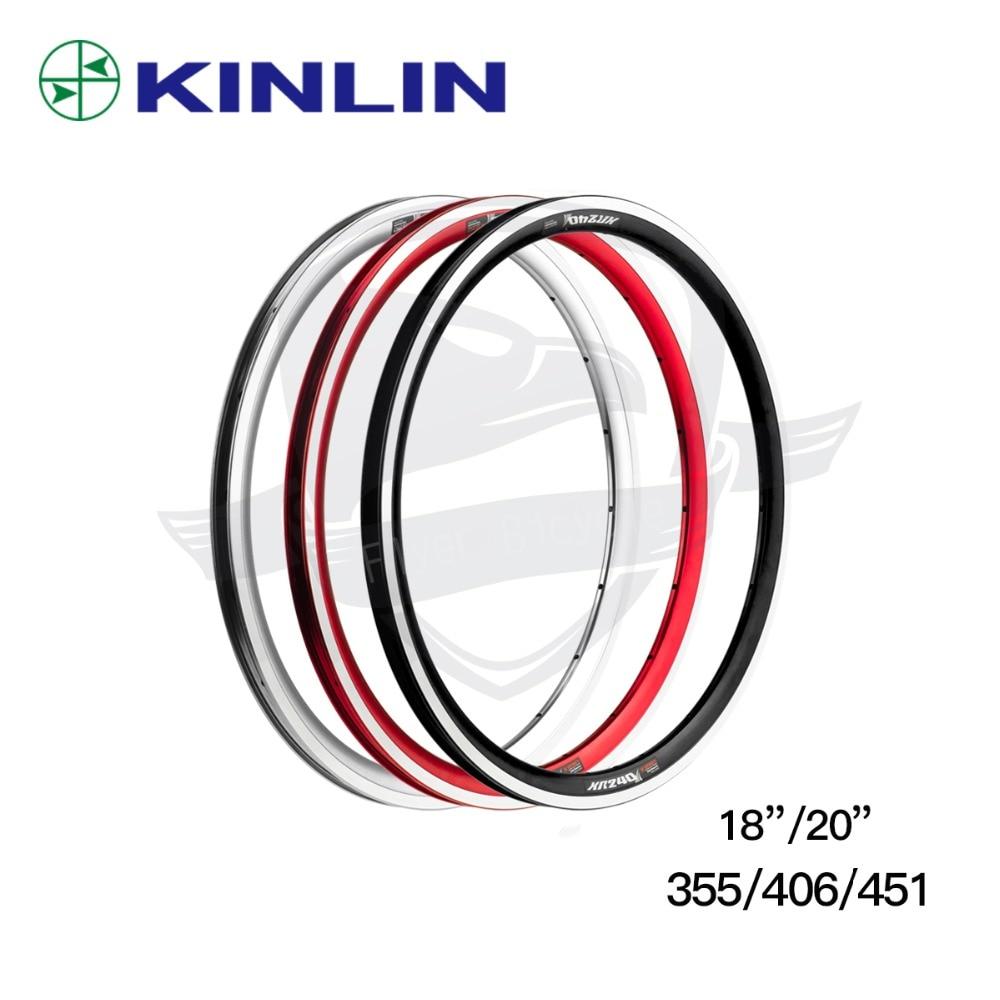 Jante de vélo ultralégère de haute qualité KINLIN XR240 18/20 pouces jantes 355/406/451 jante de vélo 16/20/24 trous