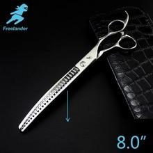 Freelander8.0 pulgadas tijeras profesionales para perros tijeras de aseo para mascotas herramienta de pulido tijeras de adelgazamiento de alta calidad