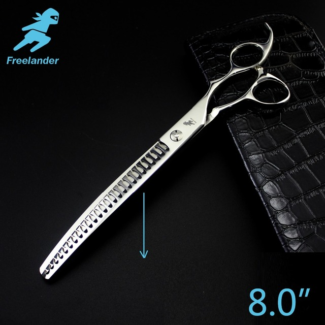 Freelander8.0inch Professional Shears Dog Pet Grooming Scissors Polishing Tool Thinning  Scissors  High Quality