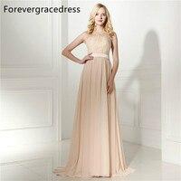 Forevergracedress Elegant Cheap Bridesmaid Dress New Arrival Long Lace Chiffon Wedding Party Gown Plus Size Custom