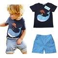 Sodawn Новое прибытие детские костюмы для мальчиков мальчиков Футболка + брюки 2 шт. детская одежда детская одежда