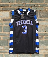 New LIANZEXIN NO.3 The film version of One Tree Hill Lucas Scott Need Double Stitched mesh basketball Jersey Black Men Jerseys