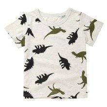 Новинка года; модная детская футболка с рисунком для мальчиков мультфильм Динозавр принт с карманом футболки Прямая поставка;#1226