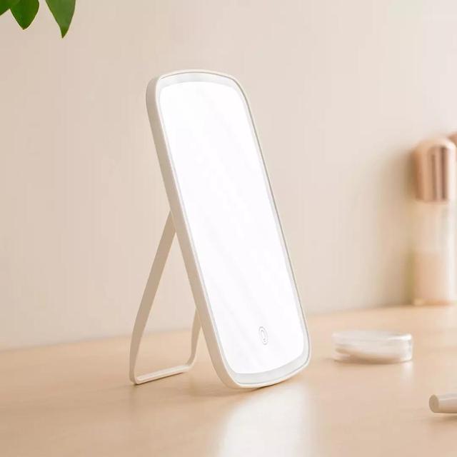 Youpin espelho de maquiagem com led espelho cosmético com toque interruptor dimmer bateria operat suporte para mesa banheiro quarto viagem