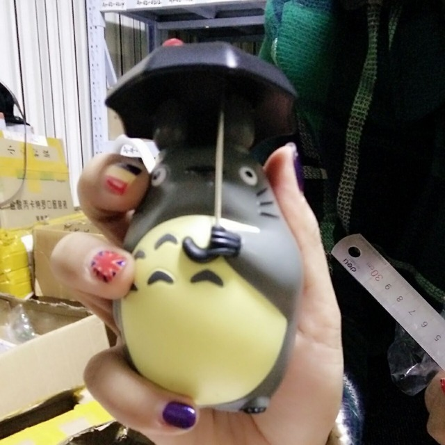 10 Cm Totoro With Umbrella