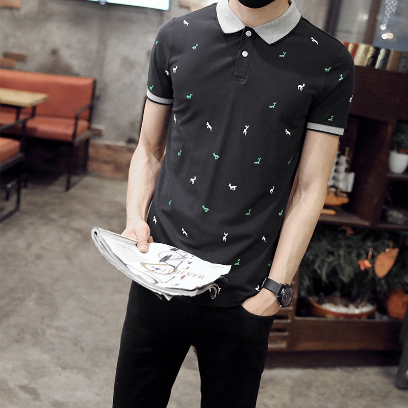 Short-sleeved t-shirt men's trend loose cotton outdoor men's printing men's clothing