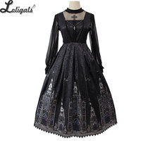 Gothic Lolita JSK Dress Church Printed Sleeveless Midi Party Dress by Alice Girl Pre order