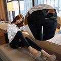 Jeans woman 2017 New Female Pencil Pants Slim Slim Feet Black Jeans Trousers Women Jeans Long Pants