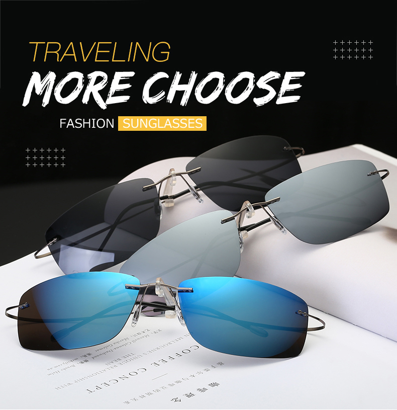 c704a30c67ca Detail Feedback Questions about Rimless Polarized Light Sunglasses ...