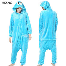 eaf7a10740 HKSNG nuevo Animal adulto Elmo de sésamo Cookie Kigurumi pijamas monstruos  fiesta familiar Onesies Cosplay disfraces