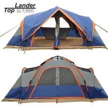 4 Сезона Открытый Автоматическая Палатка 5-6 Человек Двойной Слой Семья Палатки Водонепроницаемый Пляж Палатка Палатка