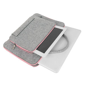 Image 3 - Wool Felt Laptop Bag For Mac 11 13 15 17 Mouse Bags Briefcase for Macbook Air Pro Retina For Lenovo Notebook Sleeve Case